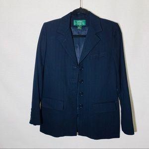 Ralph Lauren navy notch collar blazer, size 8P